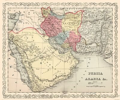Persia Arabia Middle East - Mitchell 1857 - 27.52 x 23
