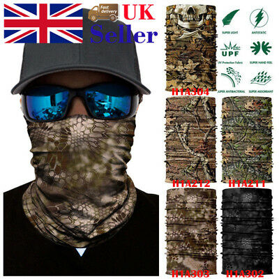 Face Mask Camo Headwear Tube Hood Outdoor Neck Warmer Fishing Balaclava Neck