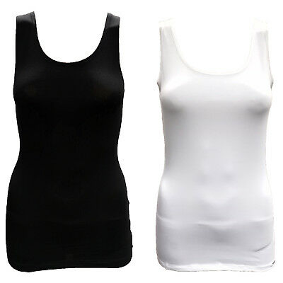 e3d7ba5aa8277a EX M S Ladies Thermal Vest Marks and Spencer Sleeveless Heatgen Warm Top UK  ...