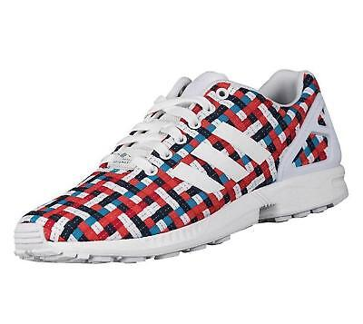 ADIDAS ORIGINALS UNISEX ZX Flux Woven Trainers Multi Coloured