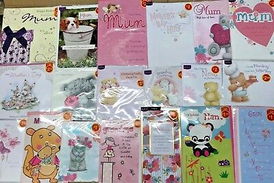 400 Mixed Mothers Day Cards Top Quality Mum Nan Gran Wholesale Job Lots Shop New