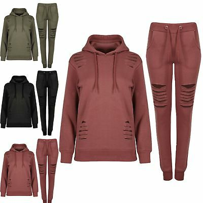 Womens Ladies Overhead Jogging Gym Exercise Long Sleeve Laser Cut Out Tracksuit