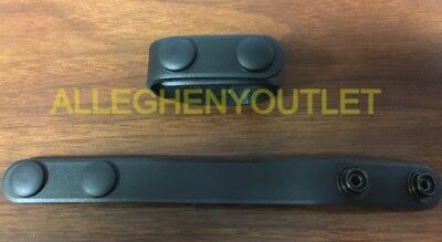 Lot of (2) USGI BLACKHAWK! Duty Gear Molded Belt Keepers Black NEW