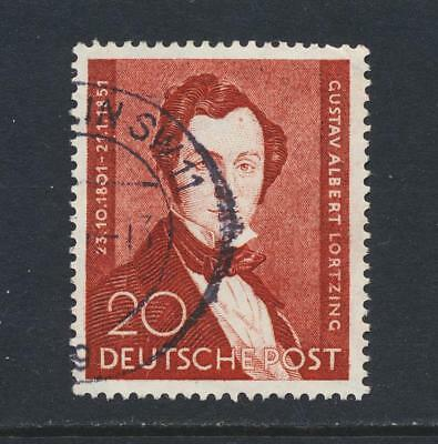GERMANY BERLIN 1951 LORTZING 20pf, VF USED Sc#9N69 (SEE BELOW)