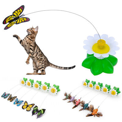 Funny Pet Cat Toys Electric Rotating Butterfly Bird Wire Cat Teaser Play Toy 1pc