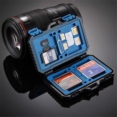 PULUZ Waterproof Memory Card Storage Carrying Case Box Holder for CF SD TF SIM