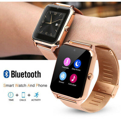 Bluetooth Smart Watch GSM SIM Phone Mate Z60 Stainless Steel For IOS Android CHH
