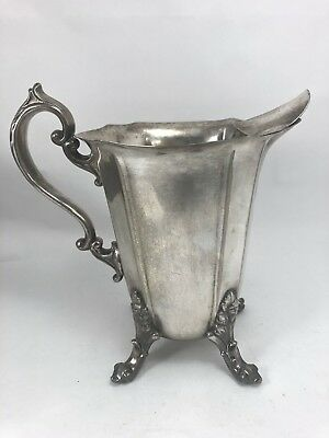 "FEDERAL SILVER CO PITCHER 8"" Vintage SILVERPLATED FOOTED JUG New York USA Art"