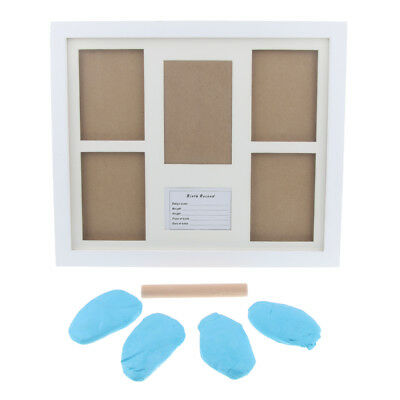 Creative Photo Frame Kit with Ink Pad & Stick for Newborn Baby - Light Blue