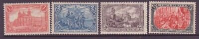 GERMANY Sc 75-78 LH ISSUE OF 1902 - GREAT SET. Sc $750+