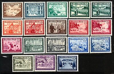 GERMANY Sc B148-59 NH ISSUE OF 1939-41 - SET OF 18 - ARMY