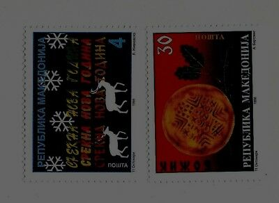 MACEDONIA Sc 142-3 NH issue of 1998 - Christmas