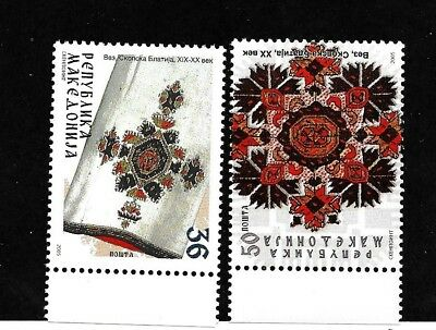 MACEDONIA Sc 325-6 NH issue of 2005 - Local Art