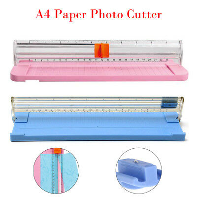 Portable A4 Precision Paper Card Blade Art Trimmer Photo Cutter Cutting Mat Blue