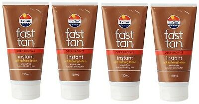 4 x LE TAN 150mL FAST TAN INSTANT SELF TANNING LOTION DEEP BRONZE BRAND NEW