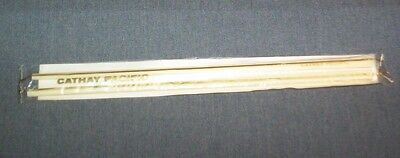 """Vintage Made In Hong Kong """"cathay Pacific"""" Ivory Colored Chopsticks Sealed & New"""