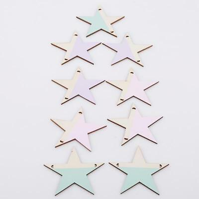 Hanging Star Wooden Beads Wall Decorations Baby Kids Room Decoration Decor H