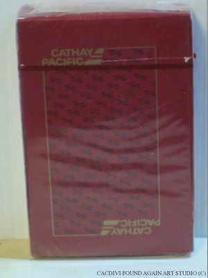 Sealed Cathay Pacific Airlines Playing Cards Red Unopened Deck & Box