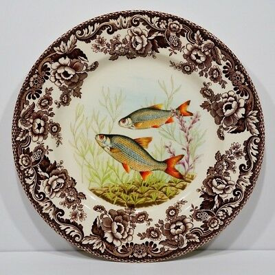 """Spode Woodland North American Fish Roach : Dinner Plate 10 3/4"""""""