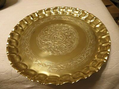 Thick brass middle eastern tray