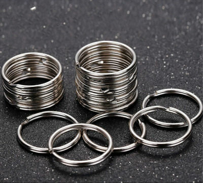Wholesale Stainless Steel Split Key Rings Chains Hoop Metal Loop Keyfob Access
