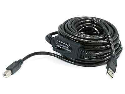 Monoprice USB-A to USB-B 2.0 Cable - Active, 28/24AWG, Black, 33ft