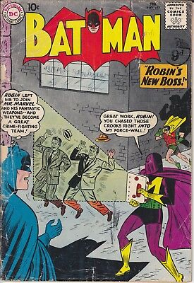 "DC Silver Age Comic BATMAN 137 (1961) ""Robin's New Boss"" Only £12.99 POSTFREE"
