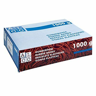 Alco-Albert 762 Rubber Bands 150 x 4 mm, 1 kg, Red