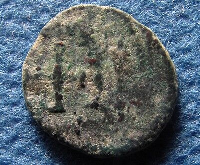 late Roman Imperial Christian cross on AE ancient Nummus - nummi bronze coin