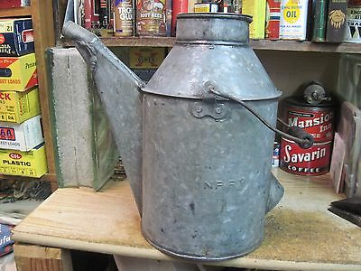 Northern Pacific Np Ry Rr Railroad Galvanized Oil Water Can Steel Tipping