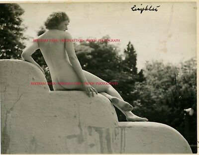 3) Vintage Original 1930s BERTRAM PARK Art Deco Female Nude Society Photographer