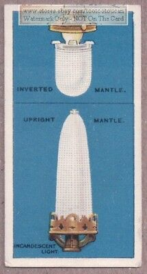 Inverted And Upright Gas Lighting Mantles 1915  Ad Trade Card