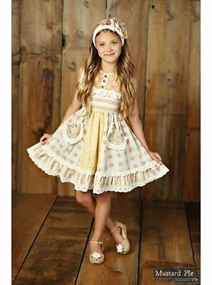 NWT Girl Mustard Pie Sweet Pea Scrappy Ramona Dress Lace Multi Girls sz 7