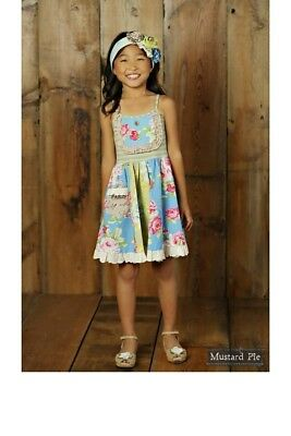 NWT Girl Mustard Pie Apple Blossom Sophie Dress  Multi Floral Girls sz 7