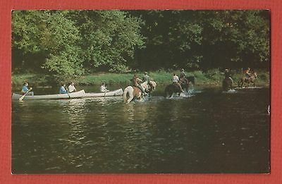 MOHICAN RIVER WILDERNESS Ohio LOUDONVILLE Wally Rd PEOPLE CANOEING, RIDNG HORSES