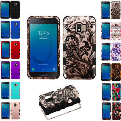 For Samsung Galaxy J2 Core 2019 Tuff Armor Dual Layer Case Rubber Cover+Stylus