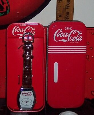 My Coke Rewards Coca - Cola Wrist Watch New In Tin Needs Battery