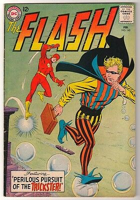 DC Comics FN FLASH  #142  TRICKSTER PUSUIT  superman JLA  batman