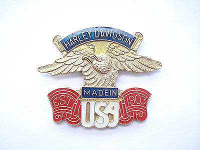 Sale - Harley Davidson Motorcycles Club Bike Sign Usa Us Hells Angels Pin Badge