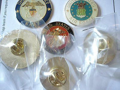 Marine Corps Air Force Navy Seals Us Marines Army War Usa Set Pin Badge Job Lot