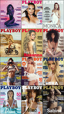 Playboy Netherlands 2017 Full Year Pdf Collection