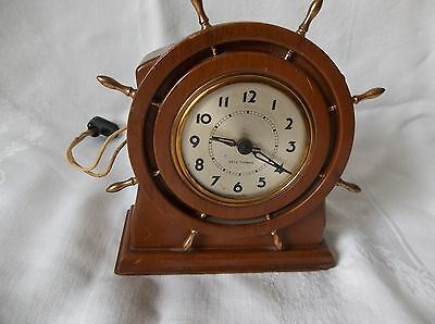 Seth Thomas Nautical Ship Wheel Electric Clock Works