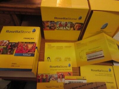 Rosetta Stone French Totale Level 1 2 3 Version 4 in Box Free Shipping