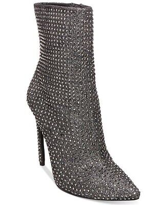 f63175451c9 STEVE MADDEN WIFEY Rhinestone Embellished Ankle Booties Boots Sz 6.5