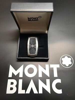 BOXED MONTBLANC CONTEMPORARY COLLECTION Money Clip- Metal and Rubber