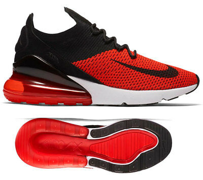 uk availability e4709 7dad4 NEW NIKE AIR Max 270 Flyknit Mens black red sneaker all sizes