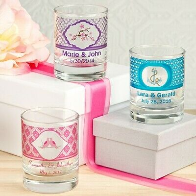 100 Personalized Shot Glass Wedding Bridal Baby Shower Birthday Party Favors