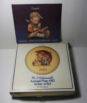 Vintage 1982 Annual Hummel Goebel Plate - Umbrella Girl - #275 - BOX w/CATALOG