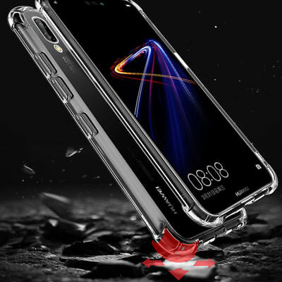 New Huawei P20 P20 Pro P20 Lite Luxury Shockproof Plating Clear Phone Case Cover