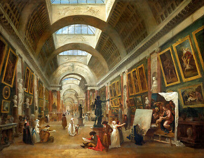 Grand Gallery of the Louvre France oil painting HD printed on canvas L1819